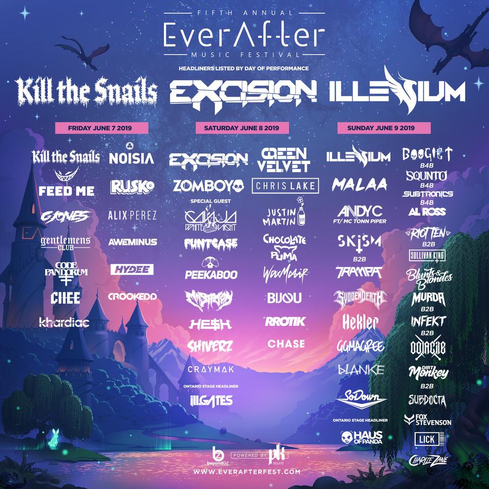ever after fest, ever after music festival, ever after festival 2019, excision, millennium